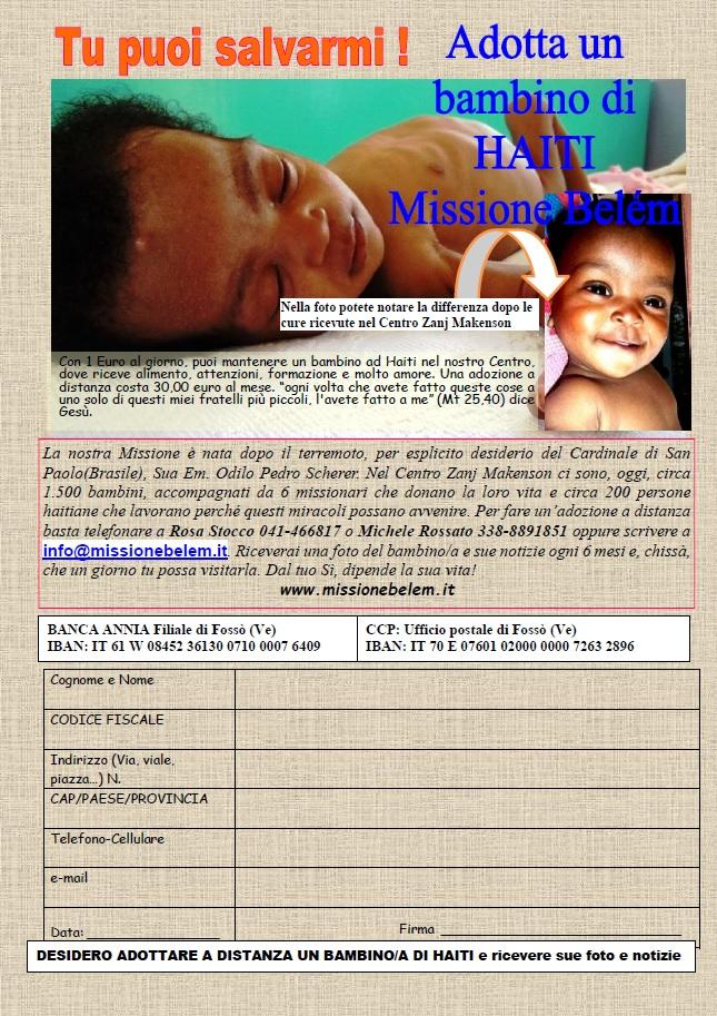 Scheda divulgazione adozioni